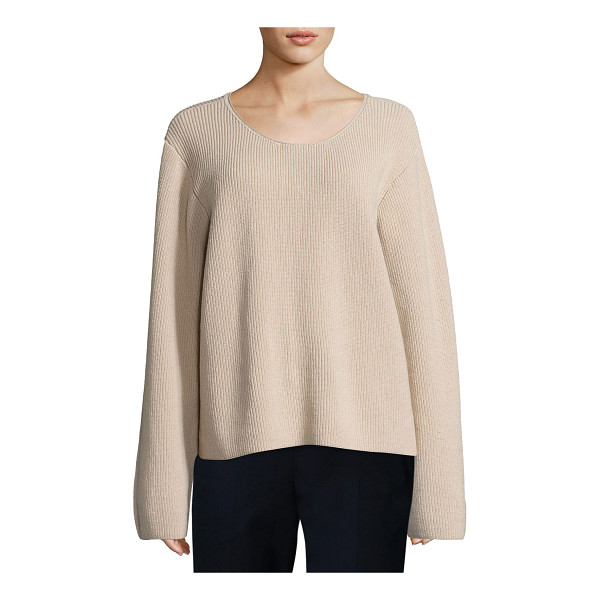 "THE ROW Grisa Ribbed Scoop-Neck Sweater - THE ROW ""Grisa"" ribbed knit sweater. Approx. 23""L from..."