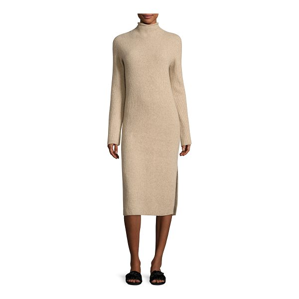 "THE ROW Moa Ribbed Mock-Neck Sweaterdress - THE ROW ""Moa"" ribbed sweaterdress. Mock neckline. Long..."