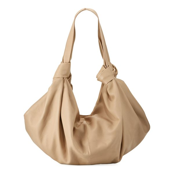 THE ROW The Ascot Medium Handbag - THE ROW handbag in napa leather. Flat top handles knotted...