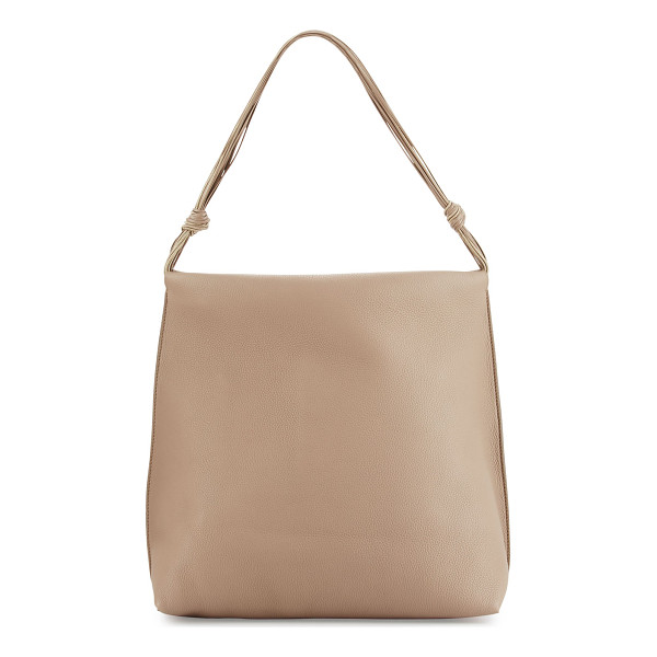 THE ROW WANDER BAG-FINE-GRAINED CALF - THE ROW fine-grained leather shoulder bag. Polished