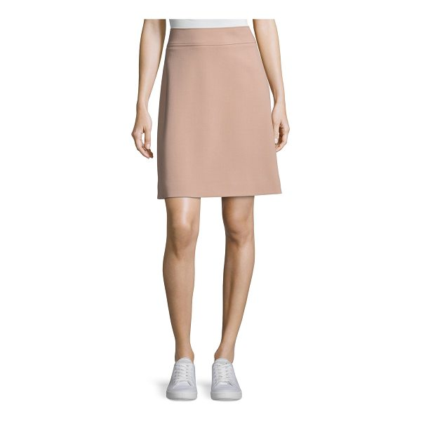 "THEORY Camogie High-Waist Mini Skirt - Theory ""Camogie"" crepe mini skirt. Approx. 18""L down center..."
