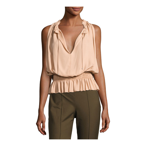 "THEORY Dezzie Classic Georgette Sleeveless Blouse - Theory ""Dezzie"" feminine top in Classic georgette. Approx...."