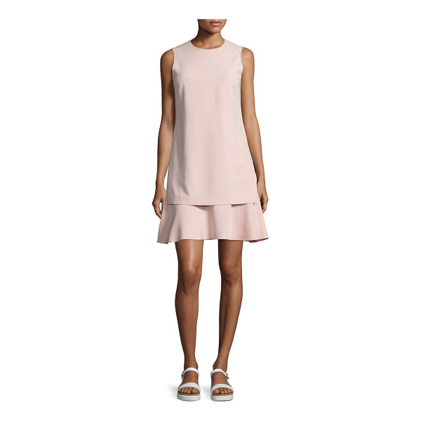 "THEORY Malkan admiral crepe sleeveless dress - Theory ""Malkan"" layered dress in Admiral crepe. Jewel..."