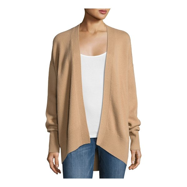 "THEORY Oversized Open-Front Cashmere Cardigan - Theory cashmere cardigan sweater. Approx. 27.5""L down..."