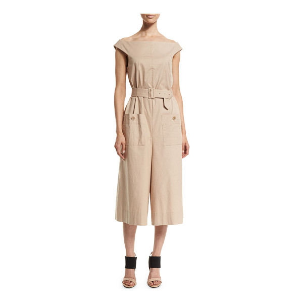 "TIBI Esteban off-the-shoulder twill jumpsuit - Tibi ""Esteban"" jumpsuit in twill. Off-the-shoulder..."