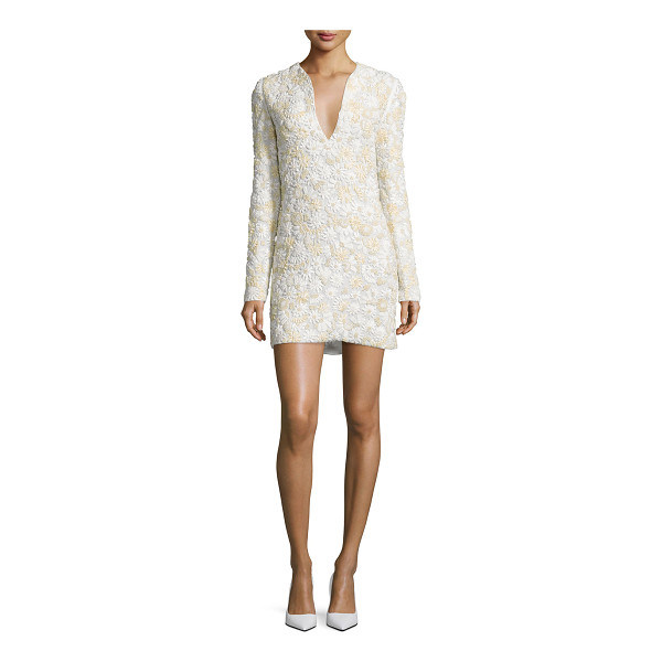 TOM FORD 3D Floral-Embellished Mini Dress - Tom Ford woven dress with three-dimensional floral...
