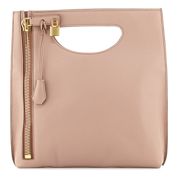 TOM FORD Alix fold-over crossbody bag - Tom Ford grained calfskin crossbody. Cutout top handle....