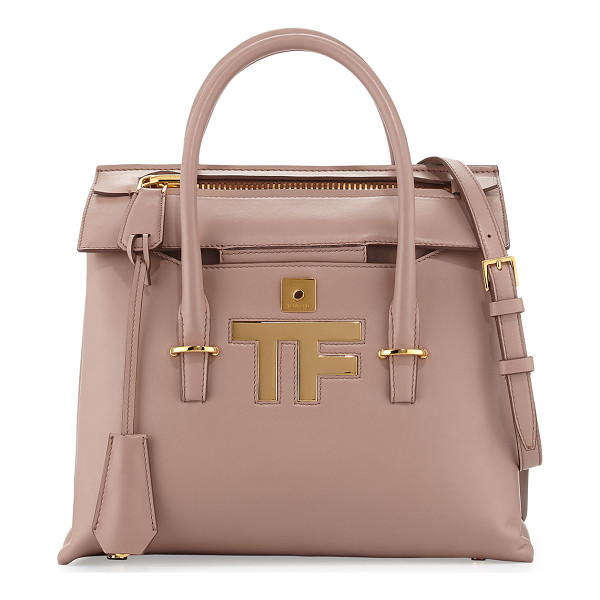 TOM FORD Mini icon tote bag - Tom Ford calfskin tote bag. Rolled top handles. Removable,...