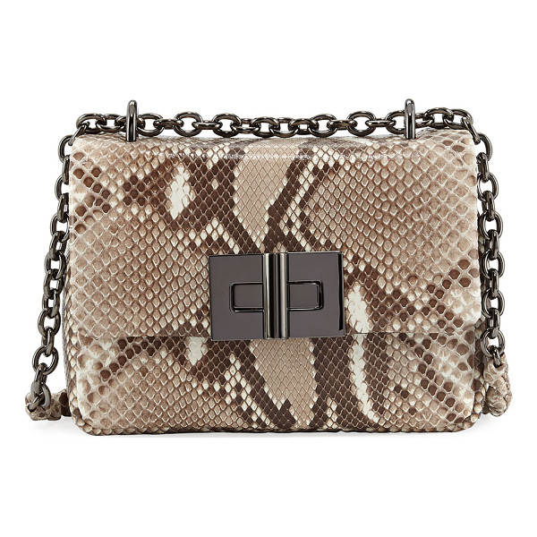 TOM FORD Natalia Python Chain Crossbody Bag - TOM FORD python crossbody bag with gunmetal hardware. Chain...