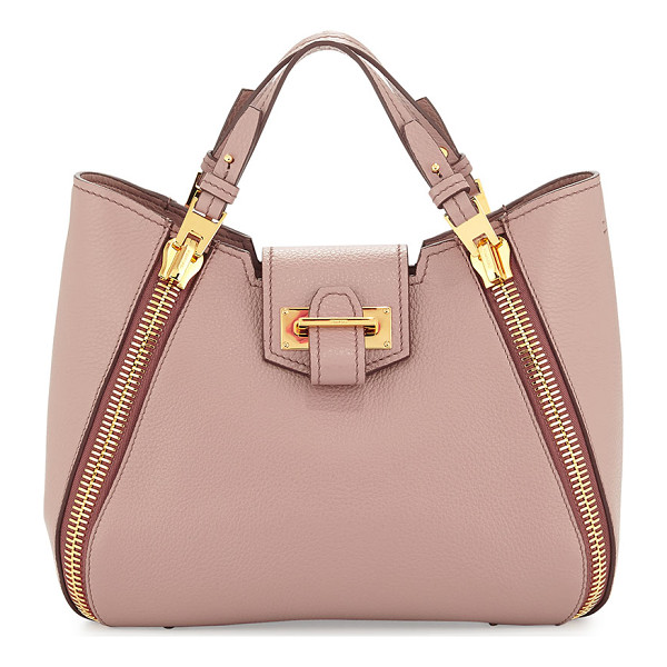 "TOM FORD Sedgwick Mini Double-Zip Leather Tote Bag - Tom Ford ""Sedgwick"" pebbled leather tote bag. Flat tote"