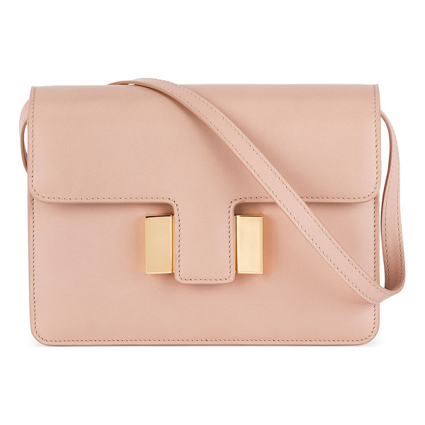 TOM FORD Sienna Small T-Buckle Crossbody Bag - Tom Ford calf leather shoulder bag with signature golden
