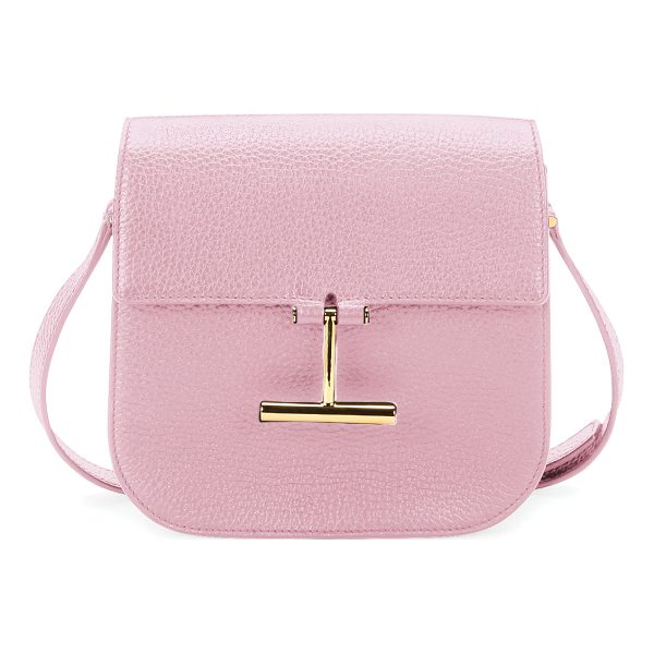 "TOM FORD Tara Small T Clasp Shoulder Bag - TOM FORD ""Tara"" grained calf leather shoulder bag. Approx...."