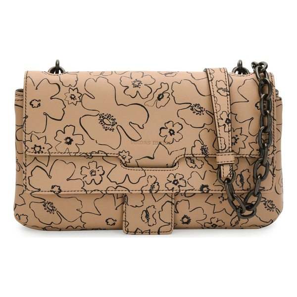 TOMAS MAIER T Floral Matte Leather Crossbody Bag - Tomas Maier floral-print matte calfskin shoulder bag....