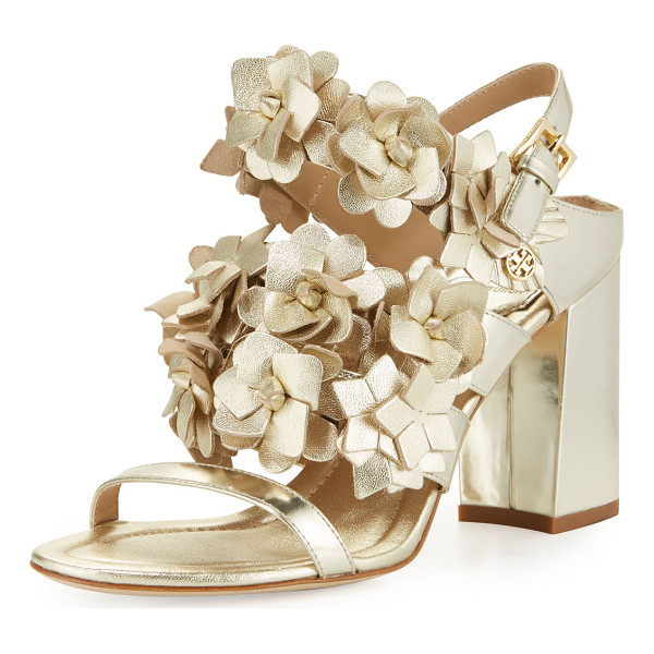 TORY BURCH Blossom leather 65mm sandal - ONLYATNM Only Here. Only Ours. Exclusively for You. Tory...