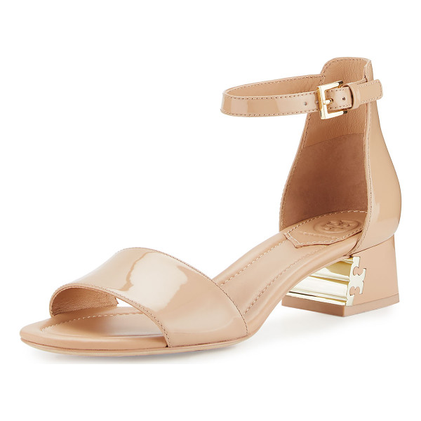 """TORY BURCH Finley patent 40mm sandal - Tory Burch patent leather d'Orsay sandal. 1. 8"""" covered..."""