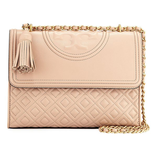 TORY BURCH Fleming Convertible Shoulder Bag - Tory Burch convertible quilted leather shoulder bag with...