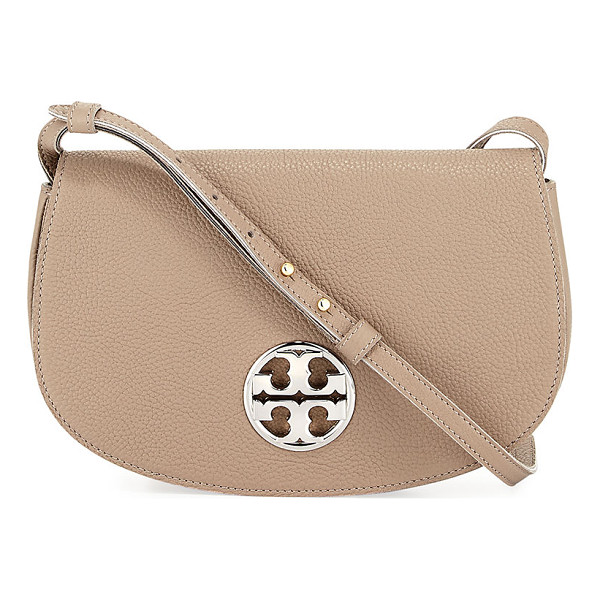 TORY BURCH Jamie Leather Clutch Bag - Tory Bruch grained leather clutch bag. Golden hardware....