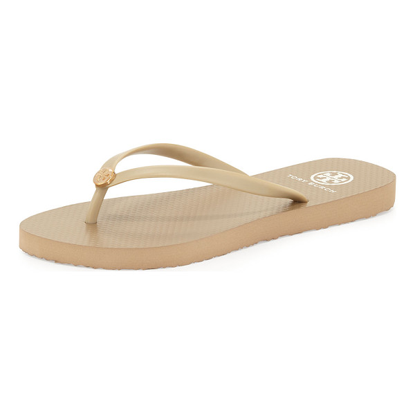 TORY BURCH Logo Rubber Flip-Flop - Classic, water-ready rubber flip-flop with signature double...
