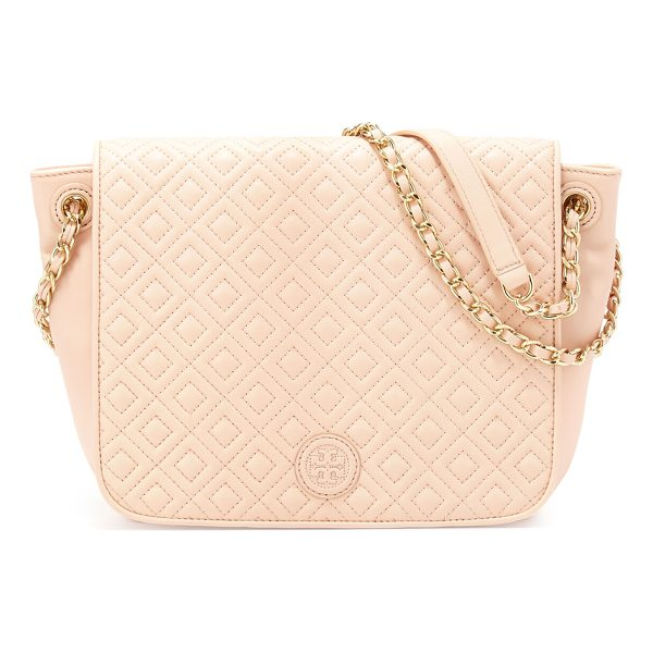 TORY BURCH Marion Quilted Small Flap Shoulder Bag - Tory Burch quilted leather shoulder bag. Chain and leather...