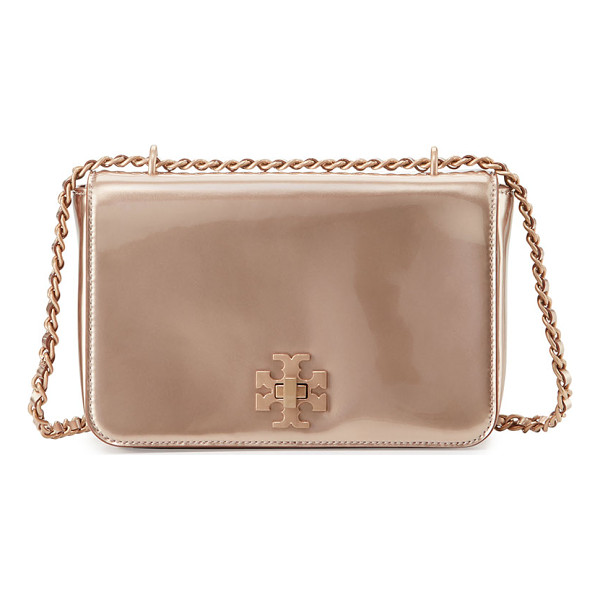 TORY BURCH Mercer metallic pvc shoulder bag - Tory Burch shoulder bag in metallic PVC. Rose golden...