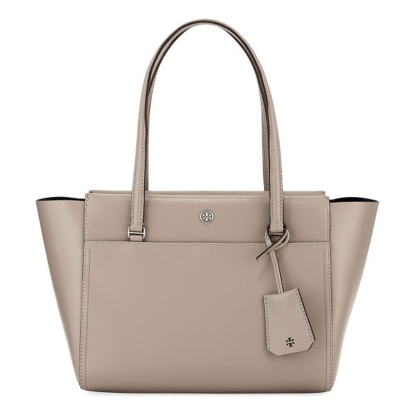 TORY BURCH Parker Small Tote Bag - Tory Burch leather tote bag. Flat top handles with hanging...