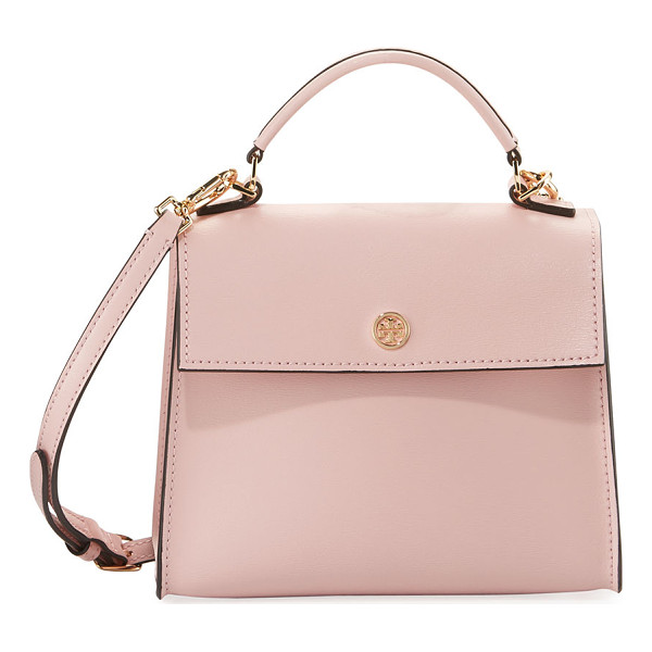 TORY BURCH Parker Top Handle Crossbody Bag - Tory Burch leather crossbody bag with golden hardware....