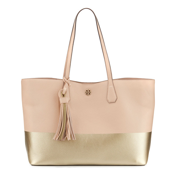 TORY BURCH Perry Colorblock Leather Tote Bag - ONLYATNM Only Here. Only Ours. Exclusively for You. Tory...
