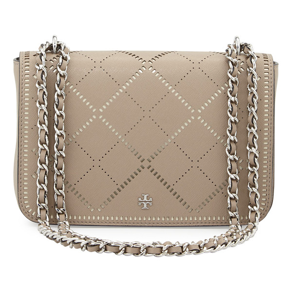 TORY BURCH Robinson crosshatch saffiano leather shoulder bag - Tory Burch crosshatch saffiano leather shoulder bag....