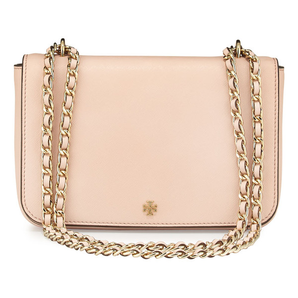 TORY BURCH Robinson Saffiano Leather Shoulder Bag - Tory Burch saffiano leather shoulder bag. Golden hardware....