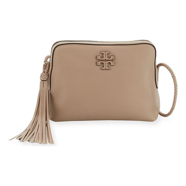 TORY BURCH Taylor Leather Camera Bag - Tory Burch pebbled leather camera bag. Braided leather...