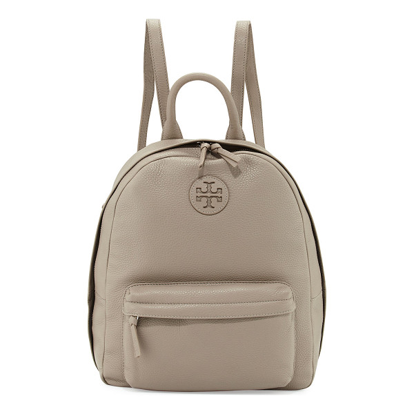 TORY BURCH Zip-Around Leather Backpack - Tory Burch pebbled leather backpack. Golden hardware.