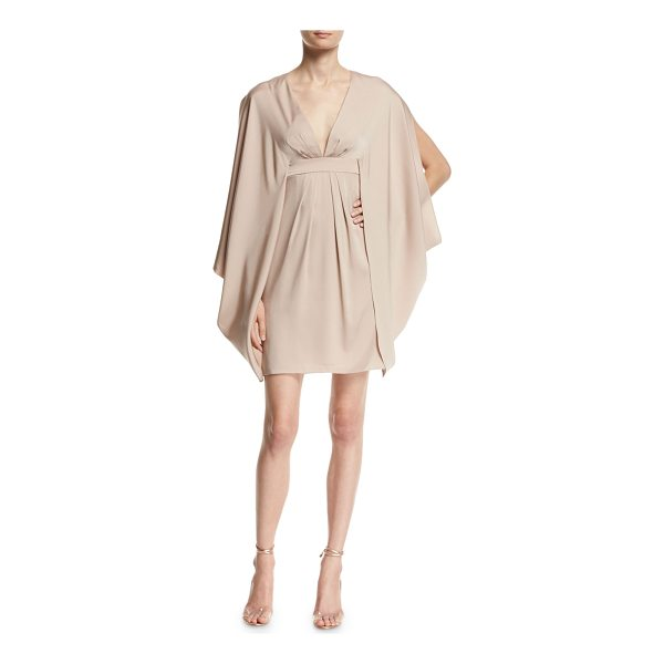 TRINA TURK V-Neck Stretch-Silk Kimono Dress - Trina Turk kimono-style stretch-silk dress. Deep V...