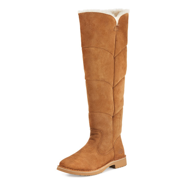 UGG Sibley Shearling Over-the-Knee Boot - UGG boot in twin-face sheepskin and cow suede. Dyed lamb...