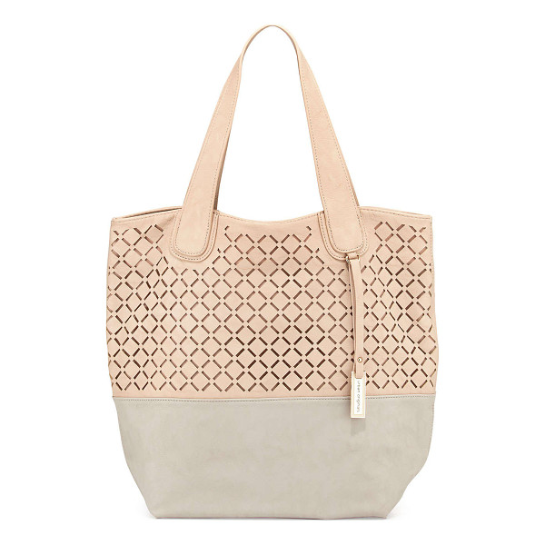 URBAN ORIGINALS Coogee perforated colorblock tote bag - Urban Originals COOGEE PERFORATED TOTE Size: ONE SIZE....