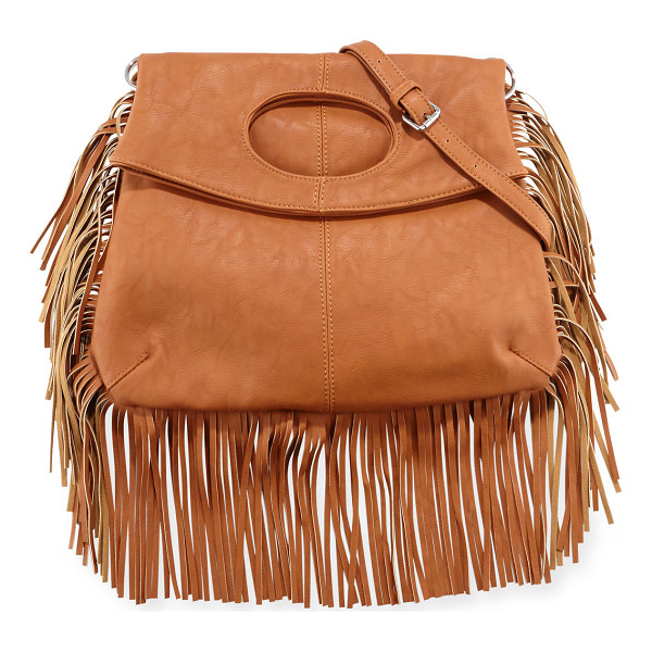 URBAN ORIGINALS Style Icon Faux-Leather Shoulder Bag - Urban Originals faux-leather (PVC) shoulder bag with fringe