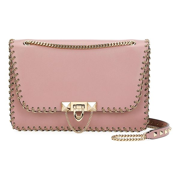 "VALENTINO Demilune Small Vitello Groumette Shoulder Bag - Valentino Garavani ""Demilune"" vitello leather shoulder bag...."