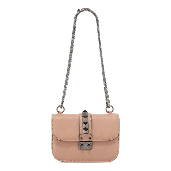 VALENTINO Lock Small Leather Shoulder Bag - Valentino Garavani grained calf leather shoulder bag.