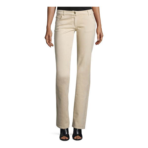 VALENTINO Low-rise straight-leg jeans - Valentino jeans with tonal-beaded trim. Five-pocket style....