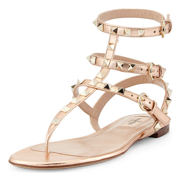 VALENTINO Rockstud ankle-wrap thong sandal - ONLYATNM Only Here. Only Ours. Exclusively for You....