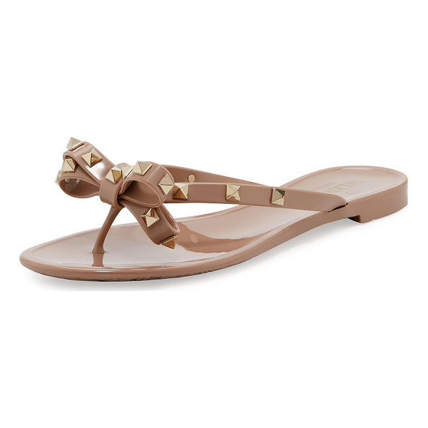 VALENTINO Rockstud PVC Thong Sandal - Valentino jelly PVC sandal with signature brass Rockstuds....