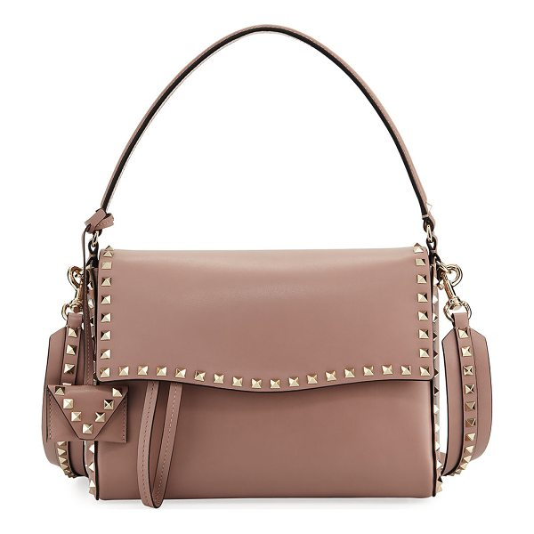 VALENTINO Rockstud Smooth Top Handle Bag - Valentino Garavani smooth leather top handle bag with...