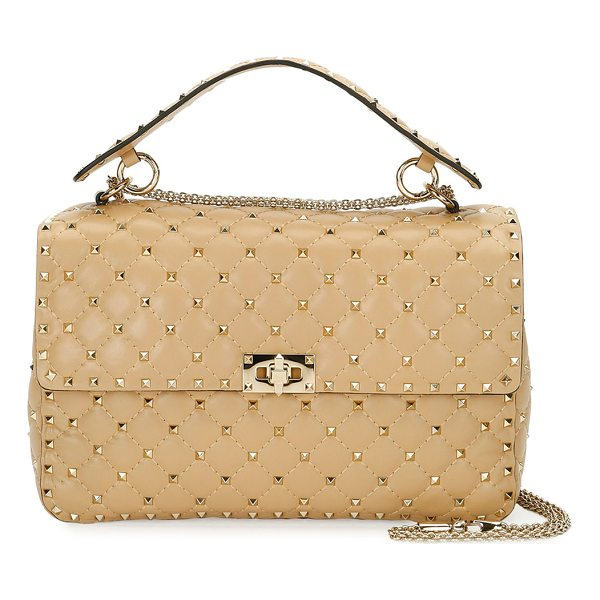 VALENTINO Rockstud Spike Large Quilted Shoulder Bag - Valentino Garavani quilted leather shoulder bag with...