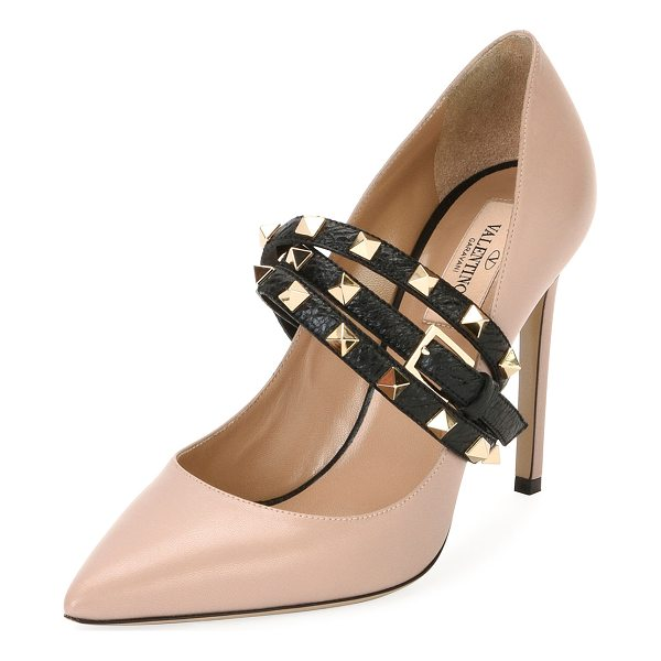VALENTINO Rockstud Wrap Leather Pump - Valentino Garavani leather pump with Rockstud vamp strap....