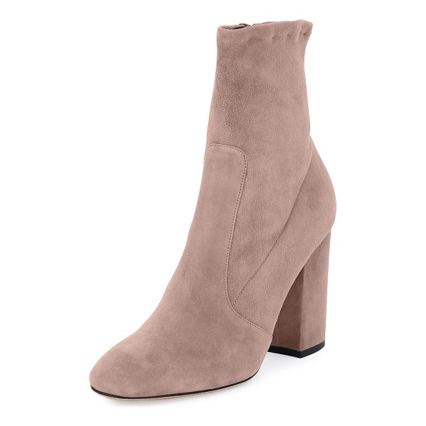 "VALENTINO Stretch-Suede Ankle Bootie - Valentino Garavani stretch-suede ankle bootie. 4"" covered..."