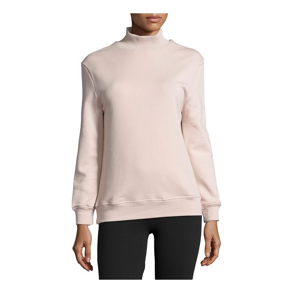 "VARLEY Rochester Cutout-Back Mock-Neck Sweatshirt - Varley ""Rochester"" sweatshirt in ultra-soft cotton blend..."