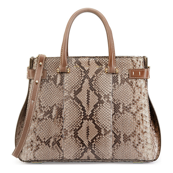 VBH Boulevard 32 python tote bag -  VBH python tote bag with leather trim and golden hardware....