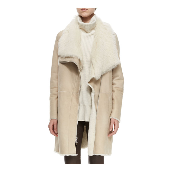 VINCE Asymmetric Shearling Fur Coat - ONLYATNM Only Here. Only Ours. Exclusively for You. Vince...
