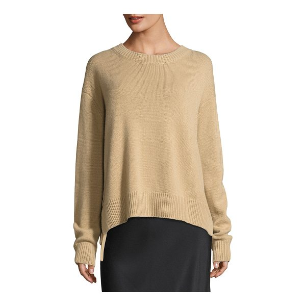 VINCE Cashmere Lace-Up Pullover Sweater - Vince cashmere sweater. Ribbed neck, hem, and cuffs. Crew...