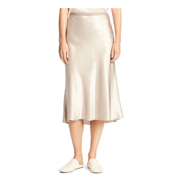 "VINCE Satin Bias-Cut Slip Skirt - Vince slip-style skirt in Japanese satin. Approx. 33""L...."