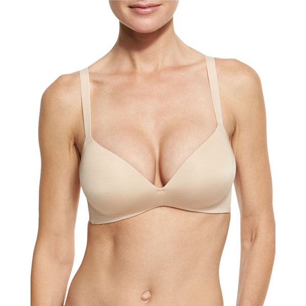 """WACOAL Ultimate Side Smoother Wire-Free Contour Bra - Wacoal """"Ultimate"""" super-soft, wire-free bra in your choice..."""